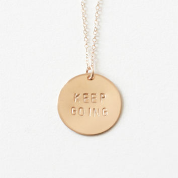 Keep Going - Gold Necklace