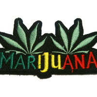Cannabis Marijuana Embroidered Iron on Patch