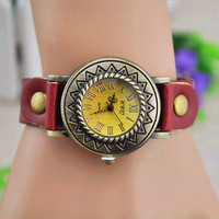 Sunflower Dial Watch with Leather Belt 101 from chiccasesandhomeproducts