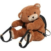 MOSCHINO Plush Teddy Bear Backpack - Brown