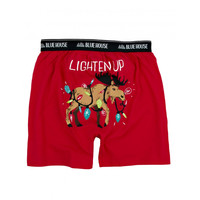 Lighten Up – Men's Holiday Boxers with Christmas Moose