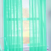 No. 918 Calypso 59 by 84-Inch Sheer Voile Curtain Panel, Sky Blue