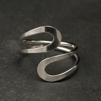 Simple Silver Ring Sterling Silver Ring Modern Silver by Artulia