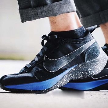 Nike Moon Racer Fashion New Hook Sports Leisure Women Men Running Shoes Black