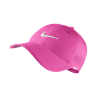 Nike Perforated Adjustable Golf Hat (Pink)