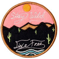 ALTRU PATCH STAY WILD LIVE FREE FELT AND EMBROIDERED