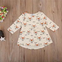 Girls Cute Fox Tunic