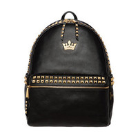 Rock Studed Crown Backpack from Hallomall