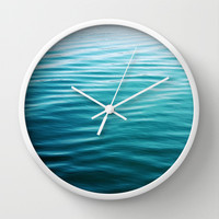 ripples Wall Clock by Sylvia Cook Photography | Society6