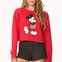 Mickey Mouse Cropped Sweatshirt