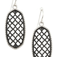 Diamond and Clover Cut Out Dangle Earrings