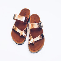 Strappy Rose Gold Sandals