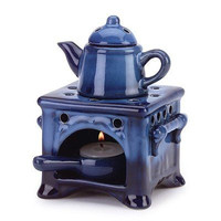 Country Kitchen Ceramic Kettle Stove Oven Oil Warmer Creations New Gift Free