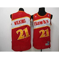 Atlanta Hawks #21 Dominique Wilkins Retro Swingman Jersey