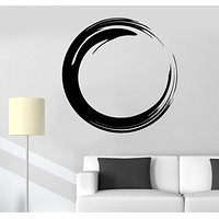 Vinyl Wall Decal Circle Enso Zen Buddhism Symbol Religion Stickers Unique Gift (693ig)