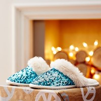 Sparkle Sequin Slippers, Pool