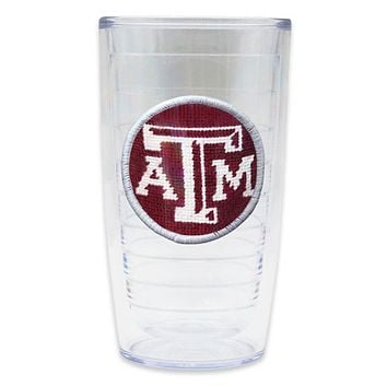 Texas A & M Needlepoint Tumbler by Smathers & Branson