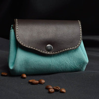 Handmade leather wallet leather purses gift ideas for women designer accessories