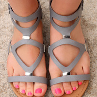 Warrior Princess Sandals: Grey