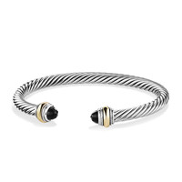 Cable Classics Bracelet with Onyx and Gold - David Yurman