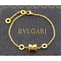 BVLGARI 2018 new titanium steel bracelet couple models fashion pop spring bracelet F-HLYS-SP gold
