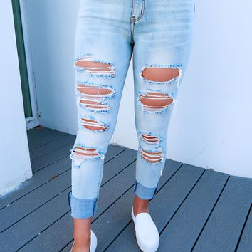 Cool For The Summer Jeans: Light Denim
