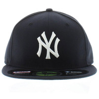 MLB NY YANKEES ON FIELD 59FIFTY FITTED HAT IN NAVY
