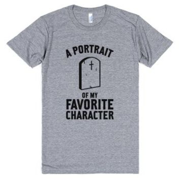 A Portrait Of My Favorite Character-Unisex Athletic Grey T-Shirt