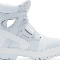 White & Grey Avalanche Boots