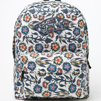Vans Realm Floral School Backpack - Womens Backpack - Blue - One