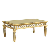 "Elegant Lighting - Coffee Table 52"" x 28"" x 20""H, Gold/Clear mirror"