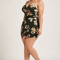 Plus Size Mini Skort Romper