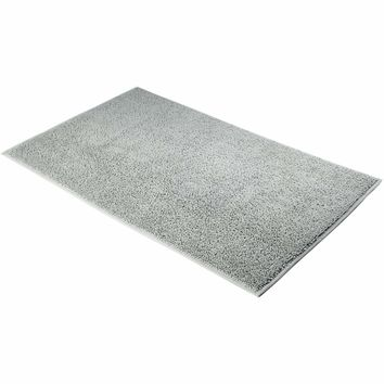 TWIST BM Absorbent Bath Mat Floor Mat Bathroom Shower Rugs Carpet 100% Cotton - DARK BROWN