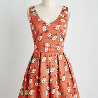 Long Strapless Fit & Flare Crafty Cooking Dress