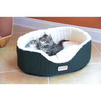 Armarkat C04HML/MB Oval Laurel Green Comfortable Soft Plush Pet Bed | Overstock.com Shopping - The Best Deals on Other Pet Beds