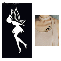 1pc Fairy Butterfly Henna Tattoo Stencil Woman Chest Body Art Small Henna Indian Waterproof Tattoo Sticker Stencil New Style G24