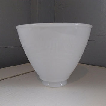 Vintage, Art Deco, 6 Inch, Lamp Shade, Glass, White, Floor Lamp Shade, Globe, Torchiere, Diffuser, Replacement Shade, RhymeswithDaughter