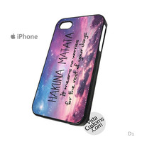 Hakuna Matata Quote Galaxy m Phone Case For Apple,  iphone 4, 4S, 5, 5S, 5C, 6, 6 +, iPod, 4 / 5, iPad 3 / 4 / 5, Samsung, Galaxy, S3, S4, S5, S6, Note, HTC, HTC One, HTC One X, BlackBerry, Z10