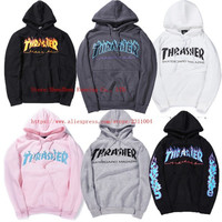 THRASHER Skateboard Hoodies Men Women Fashion Autumn Brand Clothing Pullover Coats Hip Hop Hoodie Trasher Sweatshirts Men PALACE