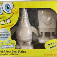 Nickelodeon Paint Your Own Statue - SpongeBob and Patrick