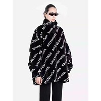 balenciaga Winter Popular Women Personality Jacquard Half High Collar Zipper Cardigan Jacket Coat