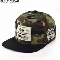 BUILT CLEAR Camouflage Patch DGK Snapback