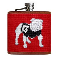 University of Georgia Needlepoint Flask in Red by Smathers & Branson
