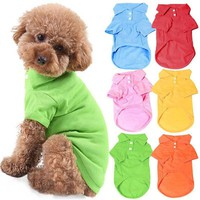 Pet Dog Cat Puppy Polo T-Shirts Suit Clothes Outfit Apparel Coats Tops Clothing Size XS S M L XL for Pet Costumes
