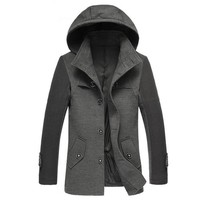 Partiss Mens Business Trench Coat