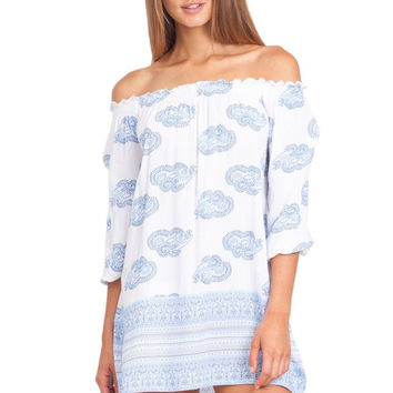 Blooming dress in sunfaded print