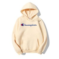 PEAPDQ7 The New Champion Print Casual Loose Hoodies Pullover Sweater