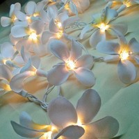 35 White Orchid Flower Fairy String Lights Wedding Party Floral Home D
