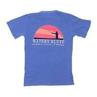 Fisher Tee Shirt in Mystic Blue by Waters Bluff