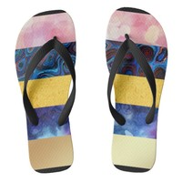multiple digital textures flip flops | Zazzle.co.uk